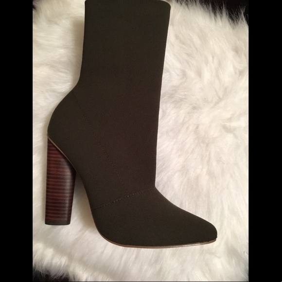 0914ae25781b Steve Madden- Capitol Olive Knit Ankle Boot